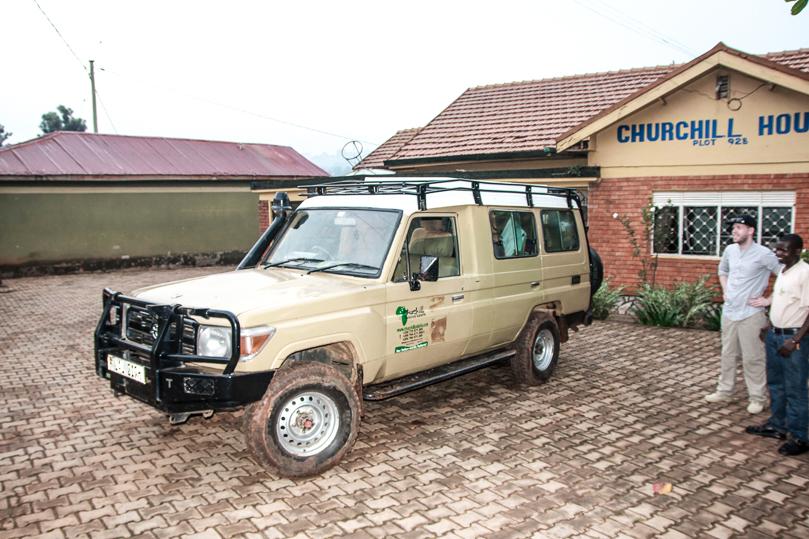 Our Rental Car in Uganda