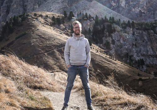 Berni at the Dolomites