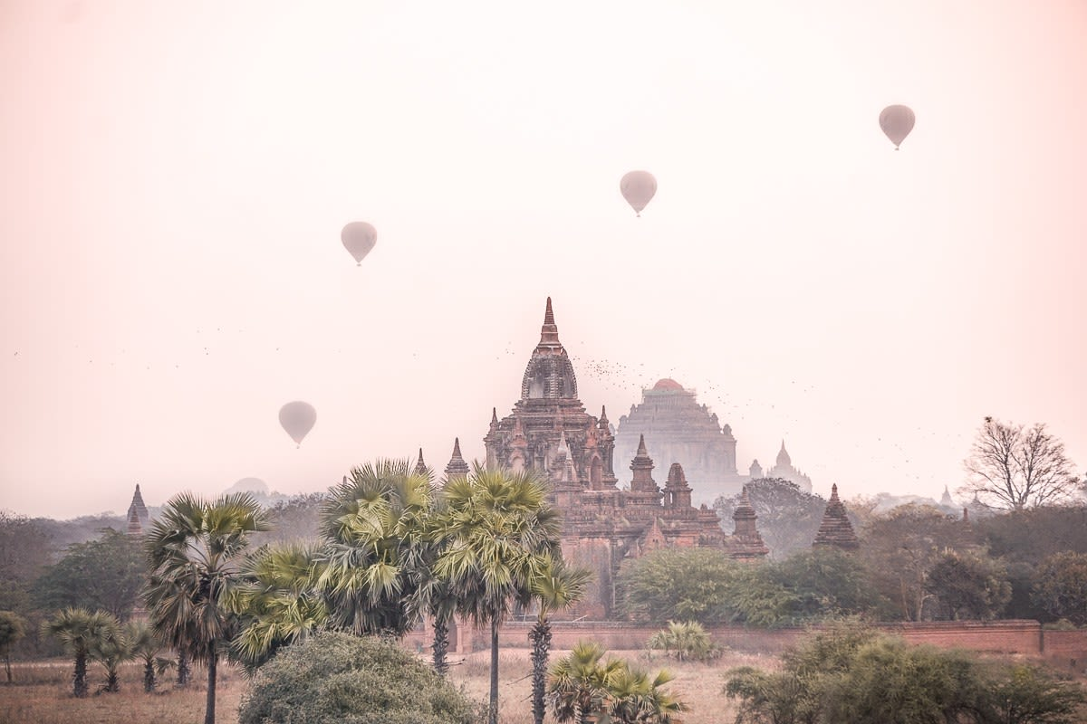 Bagan Sunrise Pagodas