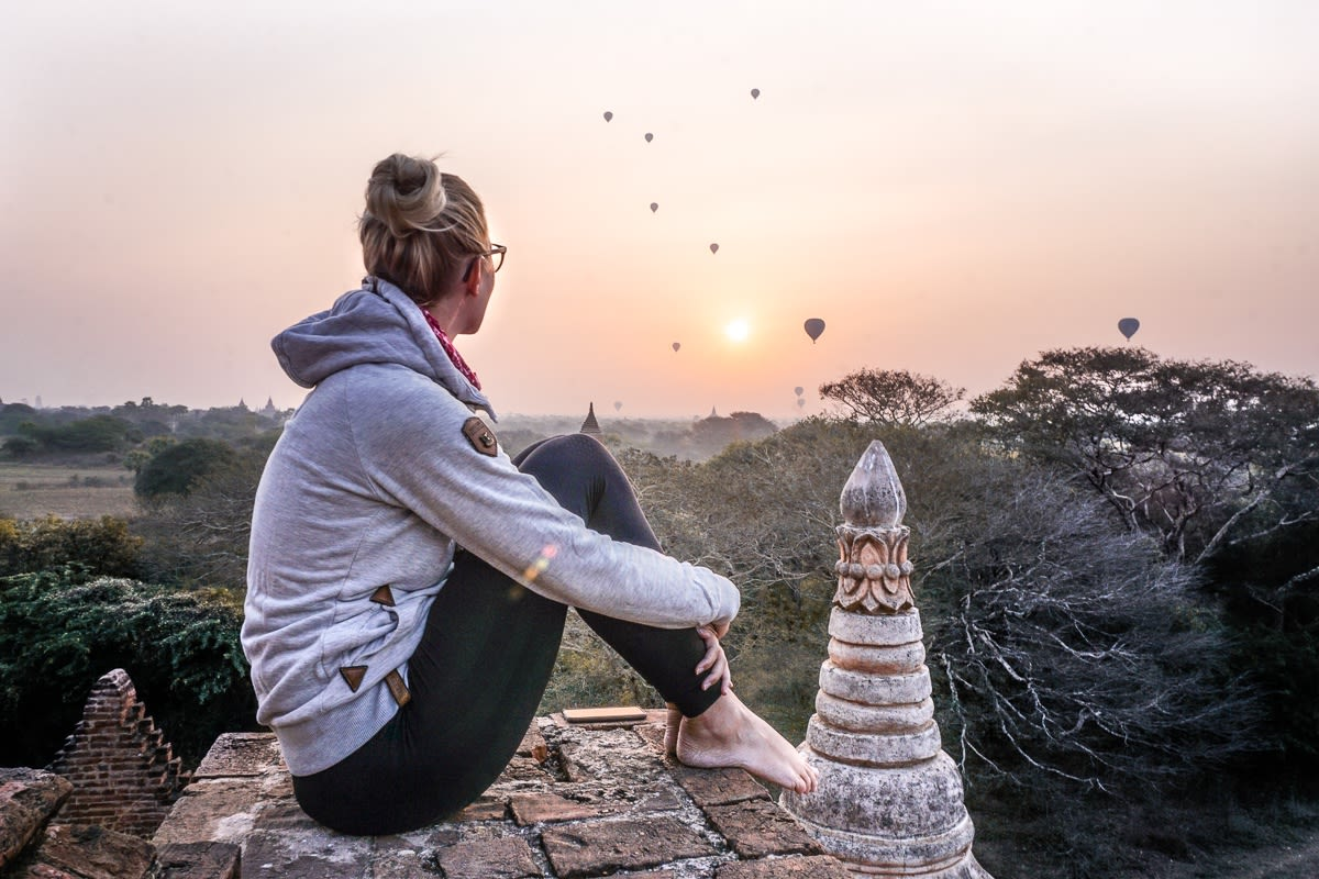 Bagan Sunrise View Pagoda