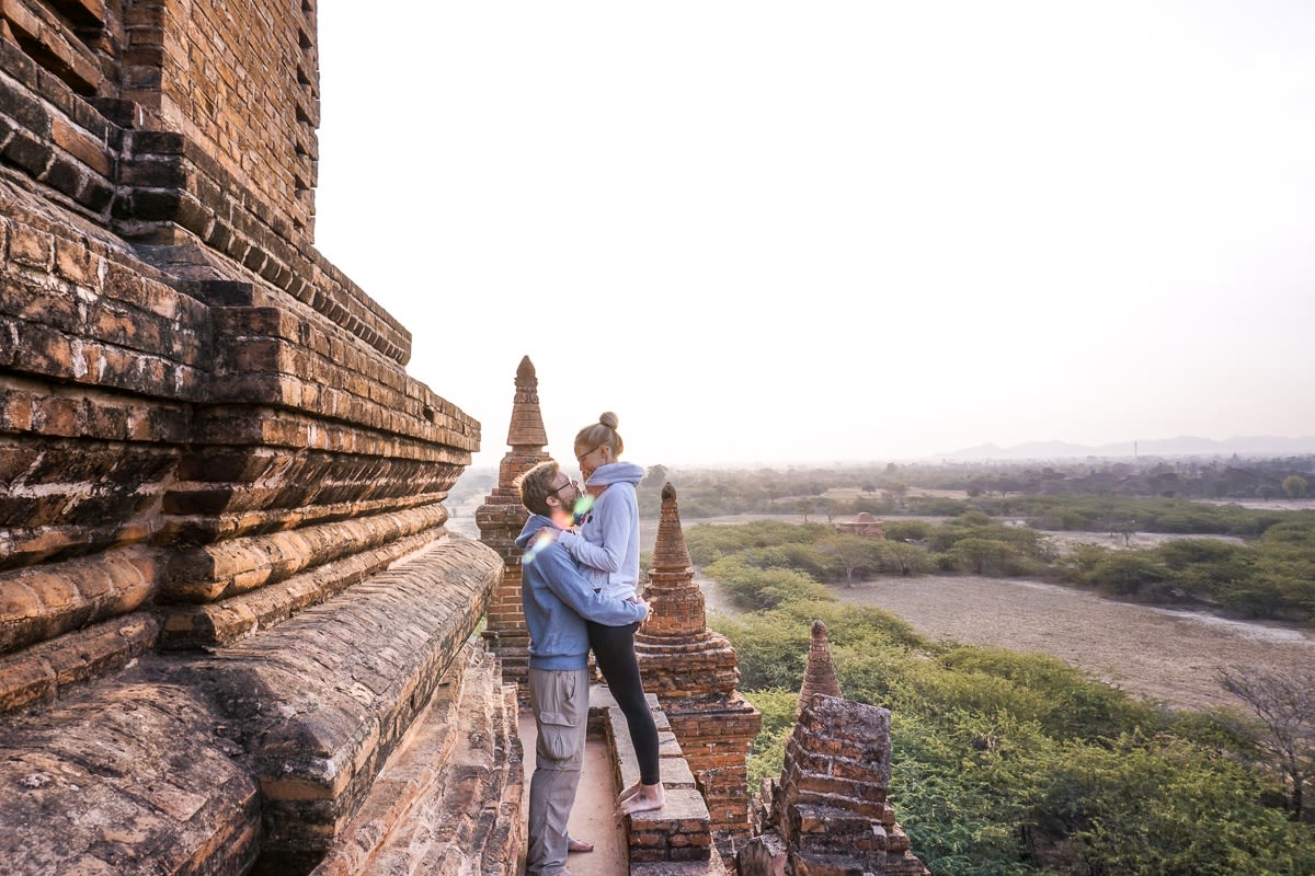 Romantic Sunrise Pagoda