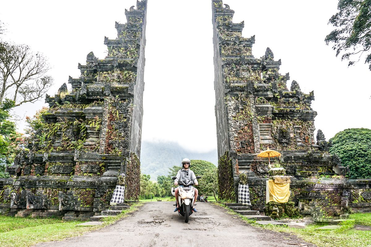 Bali Scooter Rental in front of Gate
