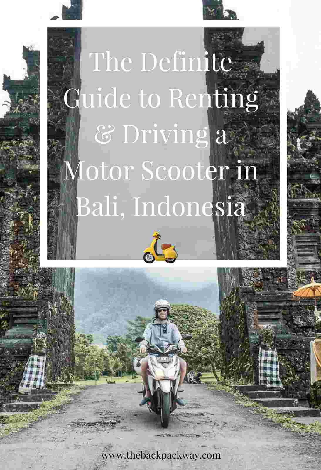 Bali Scooter Rental Pin It For Pinterest