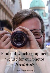photo equipment for travel blogging