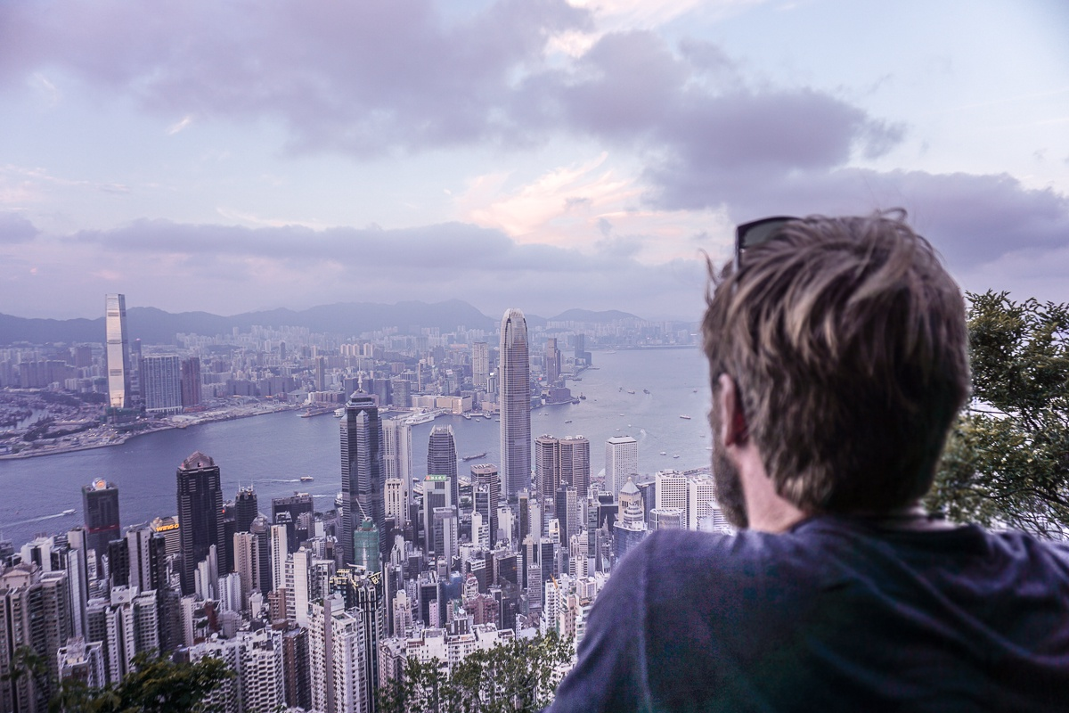 Victoria Peak Skyline View Hong Kong