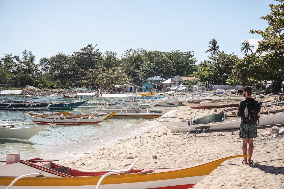 Boats Malapascua Island
