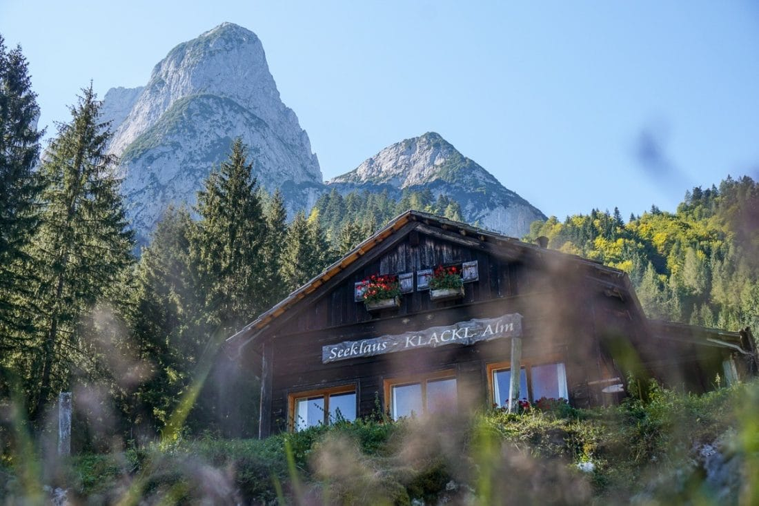 Lake Gosausee Alpine Tavern Austrian Lakes