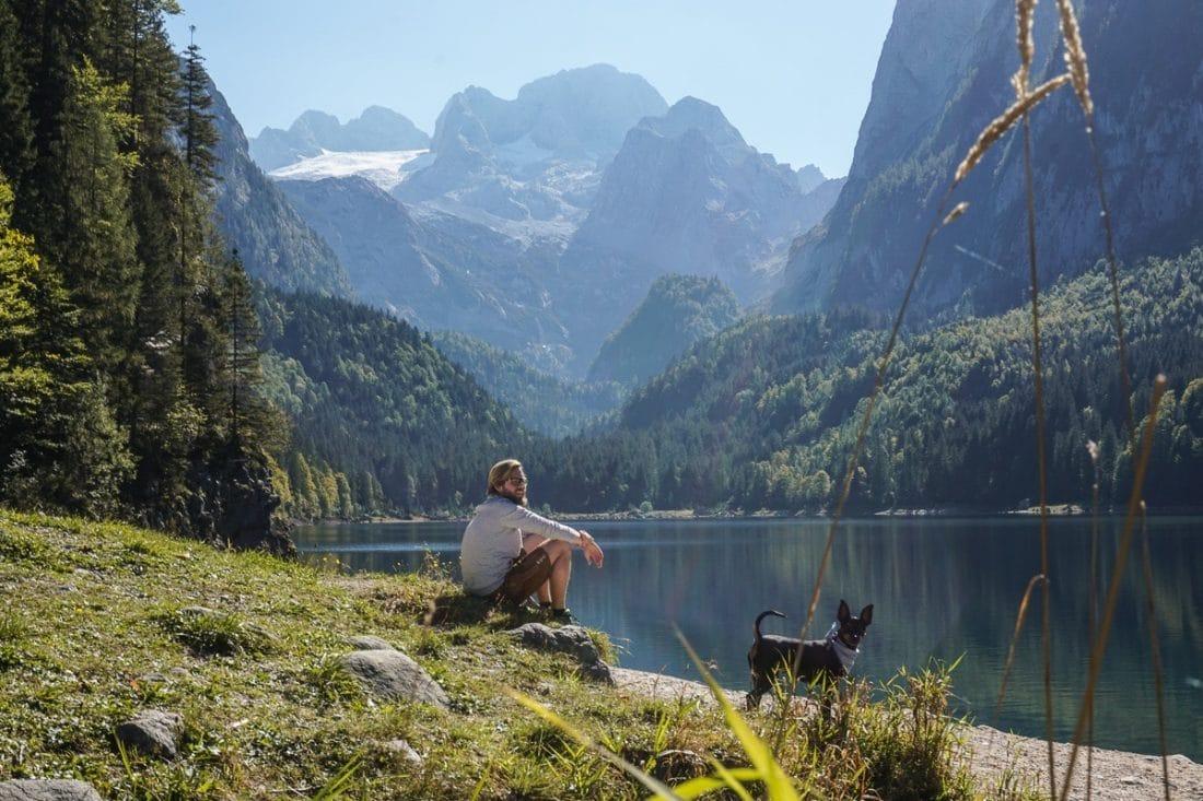Lake Gosausee Landscape Austrian Lakes
