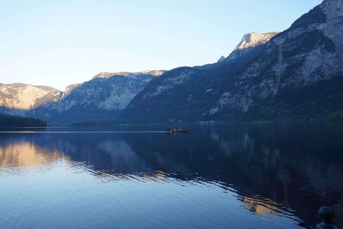 Lake Hallstatt Boat Austrian Lakes