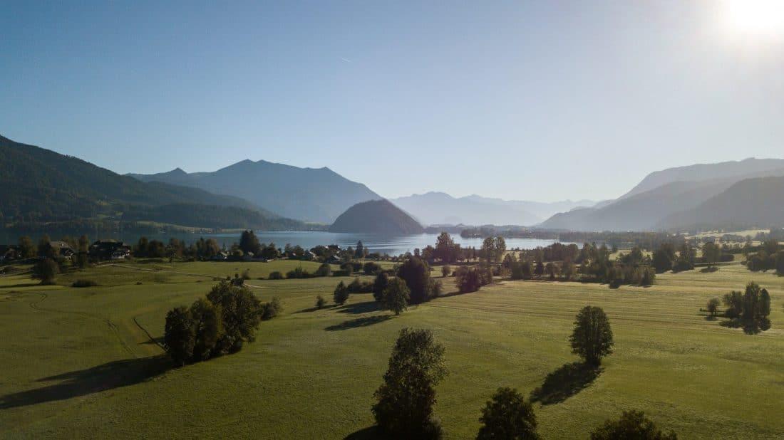 Lake Wolfgangsee Landscape Austrian Lakes
