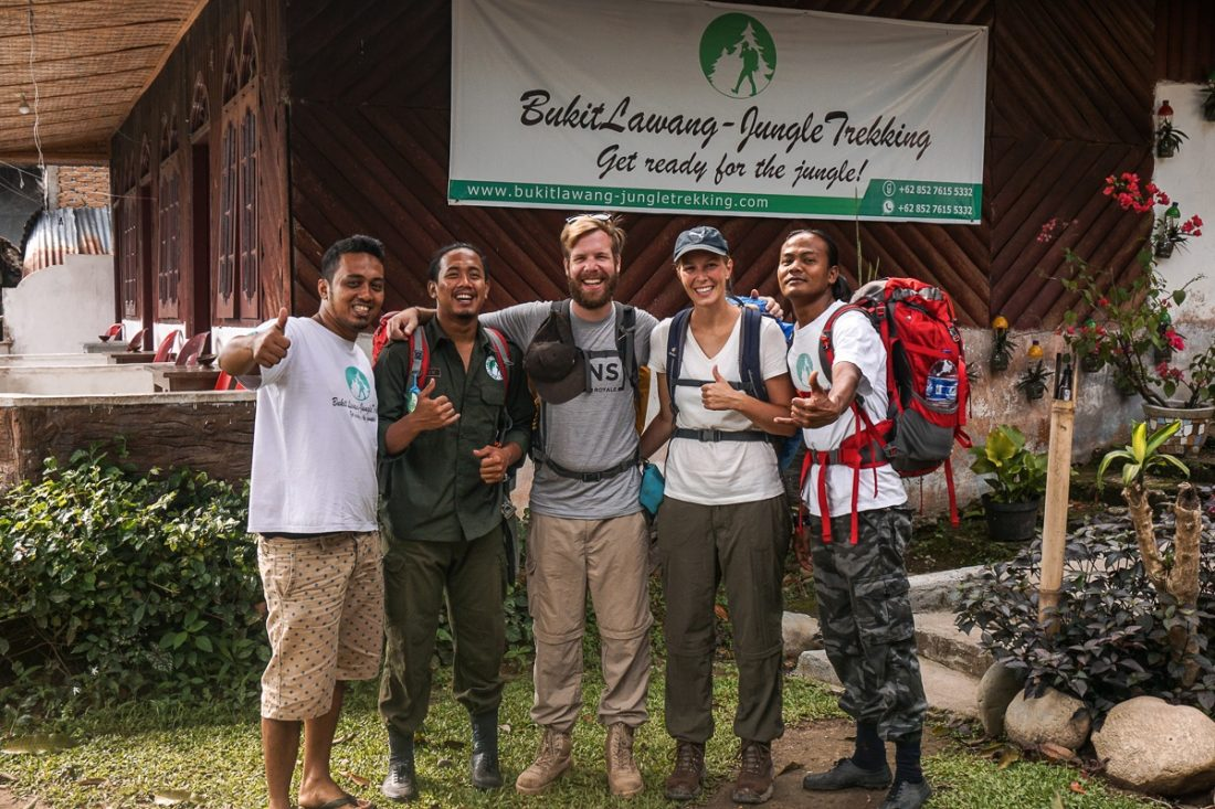 Team Jungle Trekking Sumatra