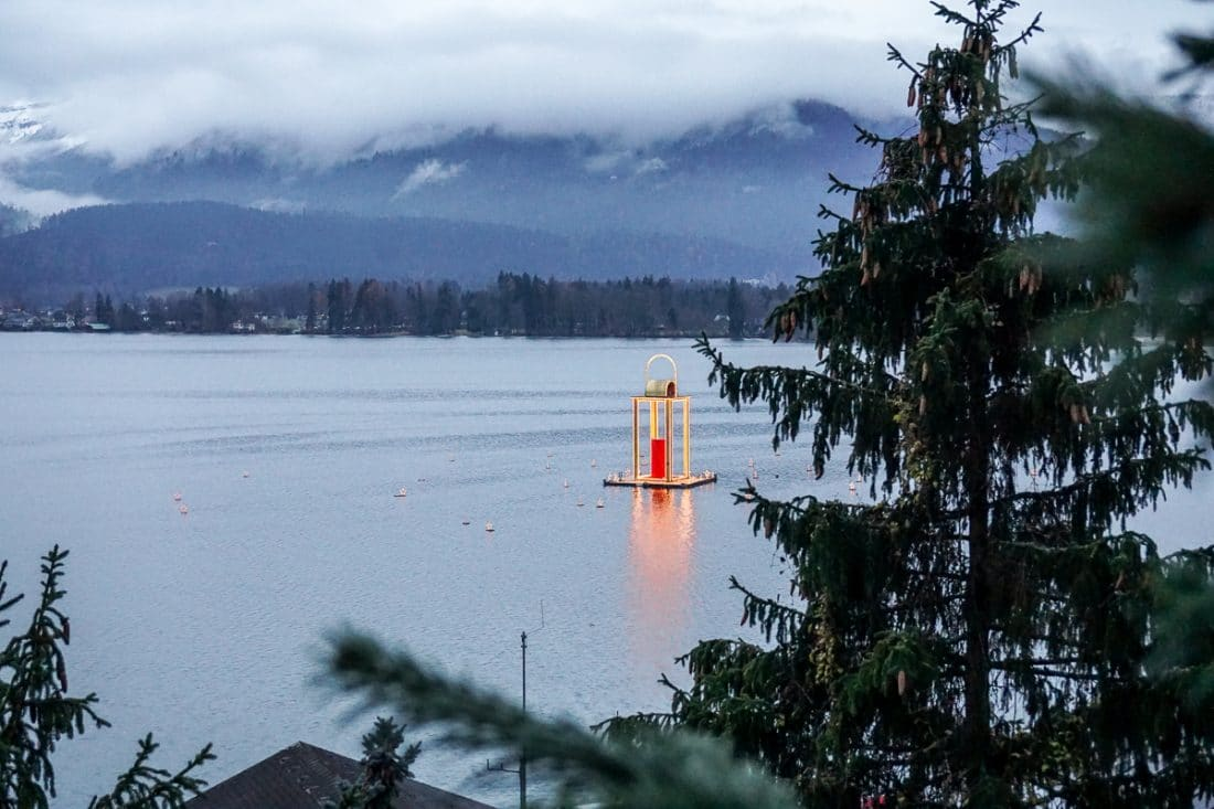 Lake Wolfgang Lantern View Christmas in Austria